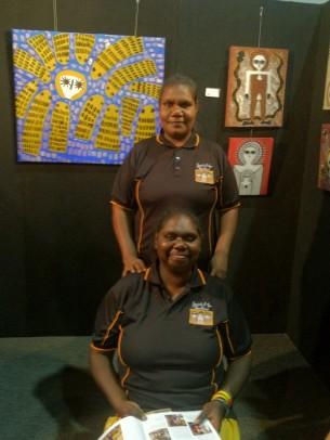 Rachel and Kirsty from Mowanjum
