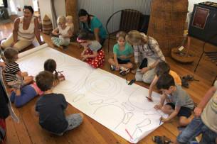 KU Phoenix Preschool Visiting Tali Gallery