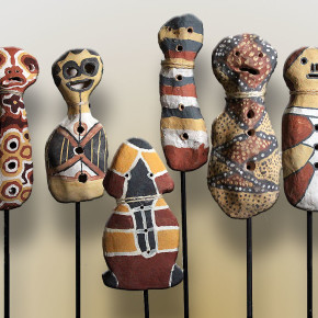 Bagu and Jiman Figures from Girringun Community, Queensland