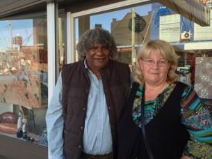 Digby Moran and his partner, Kerry at Tali Gallery