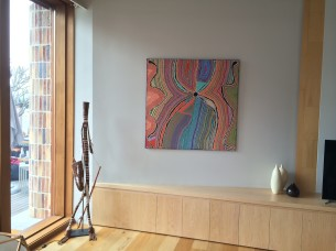 Bob Burruwal Sculpture and Liddy Walker Painting from Tali Gallery