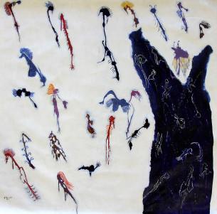 Ngulku Ngulku - Dreamtime Spirits in the Sea, 120x115cm, $1995.00