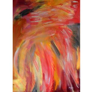 Thirrthaa Warra - Nghuman, Dora Deemal, 2013 Acrylic on Linen 78x112cm  $1455