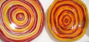 Orange Glass Waterhole Bowls
