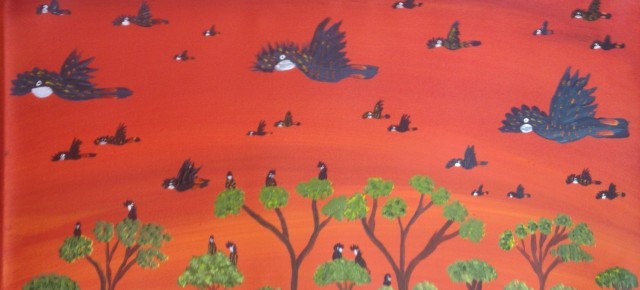 New Paintings by Kukula McDonald - Black Cockatoos