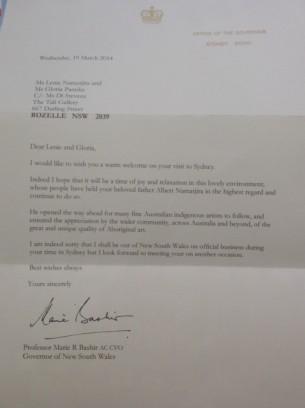 Marie Bashir's Letter
