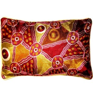 Orange Pink Oblong Cushion Cover