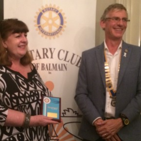 Di Presented with Rotary Vocational Excellence Award 2014