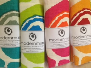 modernmurri tea-towels banded