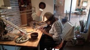 Mavis Wari at work