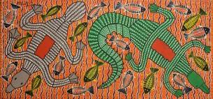 Robert J Campbell Jnr Aboriginal Artist at Tali Gallery