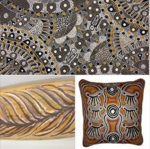 Dark Neutral Aboriginal Paintings at Tali Art Gallery