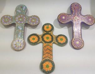 Handpainted crosses