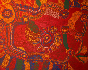 Jimmy Baker at Tali Aboriginal Art Gallery Sydney