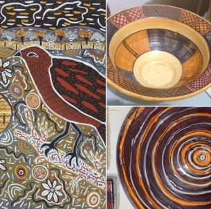 Ochre Sand and Clay Art from Remote Communities at Tali Gallery