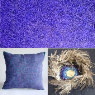 Purple Bush Onion Aboriginal Art at Tali Gallery