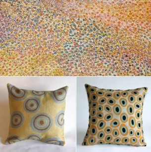 Tali Gallery Aboriginal Art yellow blue
