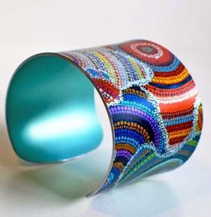 Aboriginal artwork Design Cuff at Tali Gallery