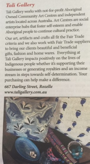 Ciao Magazine Tali Gallery Fair Trade Fortnight