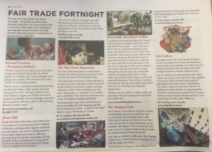 Ciao Magazine Article Fair Trade Fortnight Tali Gallery