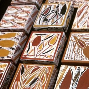 Ochre tablets at Tali Gallery