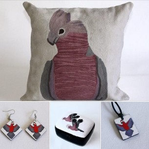 Wearing and living with Galahs - Fair Trade Art Gifts at Tali Gallery