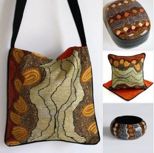 Wearing and living with Papunya Art - Fair Trade Art Gifts at Tali Gallery