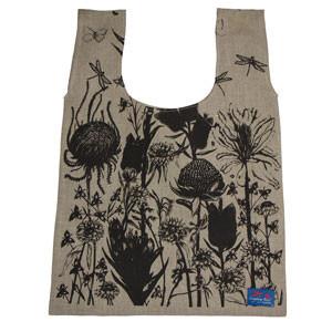 Australian Wildflowers Screenprinted Linen tote