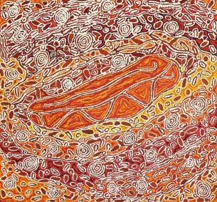 Magda Nakamarra Curtis at Tali Aboriginal Art Gallery