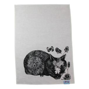 Wombat tea towel at Tali Gallery