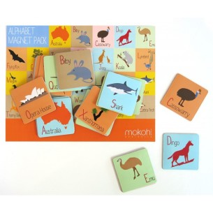 Aust Alphabet Magnet Packs at Tali Gallery