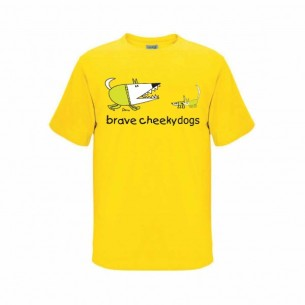 Children's T Shirt Brave Cheeky Dogs at Tali Gallery