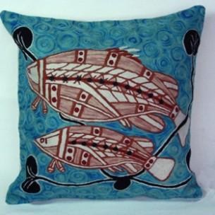 Better World Arts Cushion Cover at Tali Aboriginal Art Gallery