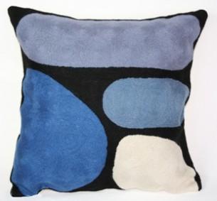 Better World Arts Cushion Cover Keturah Zimran Blue at Tali Gallery