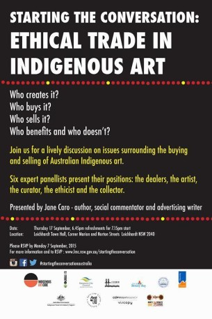 Tali Gallery involved in discussion on buying Aboriginal Art