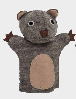 Wombat Hand Puppet at Tali Gallery