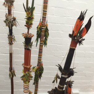 Morning Star Poles from Elcho Island at Tali Gallery
