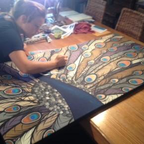 Tali Gallery Artist's Work presented to Ellen Degeneres by Swisse
