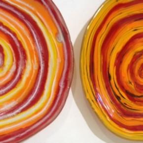 Waterhole Bowls in Glowing Orange like the Sun