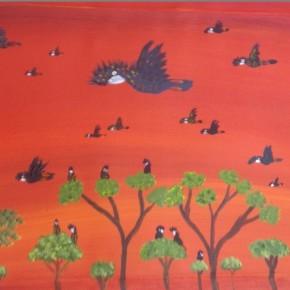 New Paintings by Kukula McDonald - Black Cockatoos