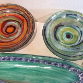 Colourful Swirling Water Glass Bowls and new Gift Additions to our Gallery Shop